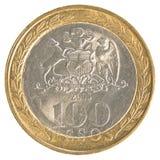 100 Chileens peso'smuntstuk Royalty-vrije Stock Fotografie