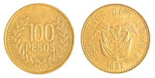 100 Chileens peso'smuntstuk Royalty-vrije Stock Foto's