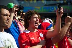 Chileense ventilator bij de Wereldbeker van FIFA van 2014 Royalty-vrije Stock Afbeelding