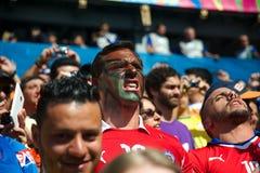 Chileense ventilators bij de Wereldbeker van FIFA van 2014 Stock Fotografie