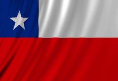 Chileense vlag Royalty-vrije Stock Foto's