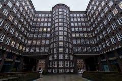 Chilehaus, Гамбург, Германия Стоковое фото RF