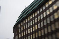 Chilehaus i Hamburg royaltyfri foto