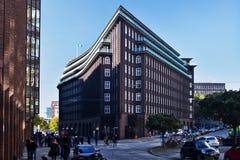 Chilehaus i Hamburg Fotografering för Bildbyråer