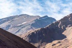 Chilenare Anderna i härligt landskapfotografi arkivbilder