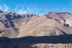 Chilenare Anderna i härligt landskapfotografi arkivfoto