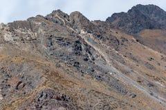 Chilenare Anderna i härligt landskapfotografi royaltyfri bild