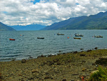 Chilenaresouthland kust royaltyfri bild