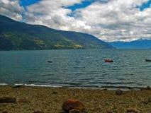Chilenaresouthland kust arkivbild