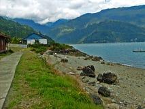 Chilenaresouthland kust Arkivfoto