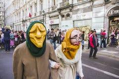 Chilenen protesteren Privé Pensioensysteem Stock Afbeeldingen