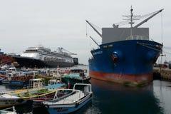 Chilenischer Seehafen von Valparaiso Stockbild