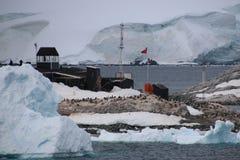 Chilenischer Vorposten in der Antarktis Lizenzfreies Stockfoto