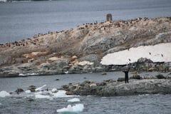 Chilenischer Vorposten in der Antarktis Lizenzfreies Stockbild