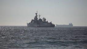 Chilenisches Kriegsschiff stock footage