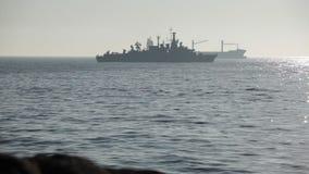 Chilenisches Kriegsschiff stock video footage