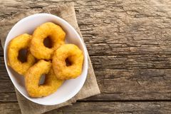 Chileno Picarones Fried Pastries Fotografia de Stock