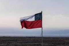 chilensk flagga royaltyfri fotografi