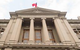 Chilensk slott av rättvisa i Santiago Royaltyfria Bilder