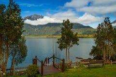 Chilenskt patagonialandskap Arkivfoto
