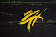 Chiles amarillos Imagen de archivo libre de regalías