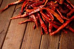 Chiles calientes secados Imagen de archivo libre de regalías
