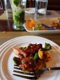 Chiles deliciosos del pollo fotos de archivo