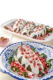 Chiles en nogada Mexican food Royalty Free Stock Photos