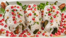 Chiles en nogada Mexican food. Chiles en nogada, a dish from Mexican cuisine Royalty Free Stock Photo