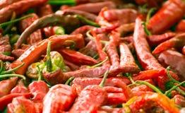 Chiles rojos Foto de archivo libre de regalías