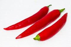Chiles rojos Fotos de archivo libres de regalías