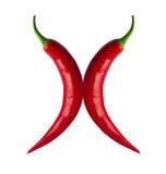 Chiles rojos picantes Imagen de archivo