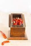 Chiles rojos secados Foto de archivo libre de regalías