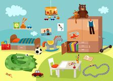 Chilgrens room. Vector illustration of a cute chilgrens room Stock Images