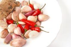 Chili、garlic、ginger Royalty Free Stock Images