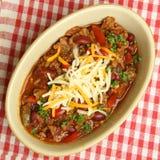 Chili говядины с сыром Стоковое Изображение