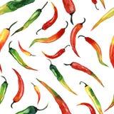 Chili картины акварели Стоковая Фотография RF