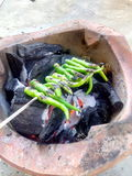 Chili приготовления на гриле Стоковые Изображения RF