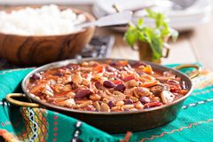 Chili фасоли Vegan Стоковое Изображение
