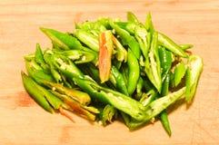 Green pepper. Cutting green pepper Stock Photography
