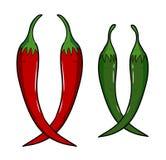 Chili stock illustrationer