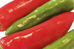 Chili. Macro of red and green Chili stock photo