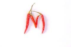 Chili alphabet on white Stock Photography