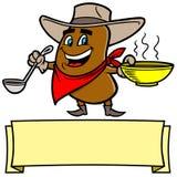 Chili Bean Cowboy illustrazione di stock