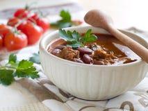 Chili Bean Stew Bowl Royalty Free Stock Image