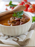 Chili Bean Stew Bowl Stock Photo