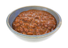 Chili With Beans In Bowl Side View Royalty Free Stock Photography