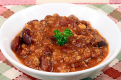 Chili beans bowl special Royalty Free Stock Photo
