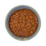 Chili With Beans In Bowl Top View Royalty Free Stock Photo