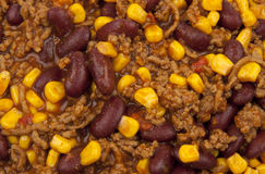 Chili with Beans and Corn Stock Images